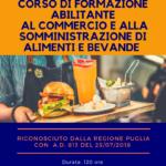 Corso di Formazione ABILITANTE al Commercio e alla Somministrazione di Alimenti e Bevande