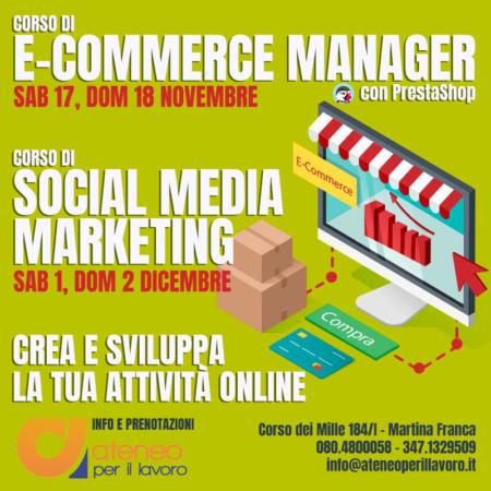 Corso in E-commerce Manager e Social Media Marketing